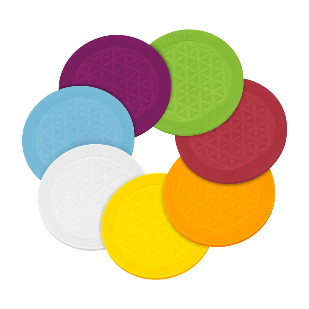Dessous de verre en silicone en 7 couleurs